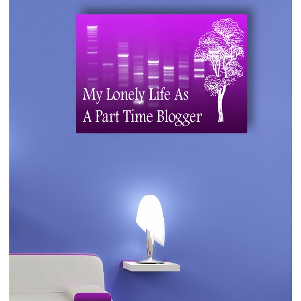 Quote my lonely life as a part time blogger Wall Art Sticker Decal White