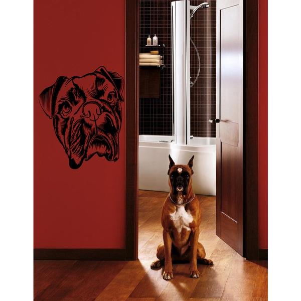 Dog pet boxer breed Wall Art Sticker Decal