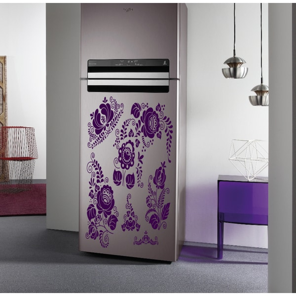 Fridge kitchen flowers Wall Art Sticker Decal Purple 18708961