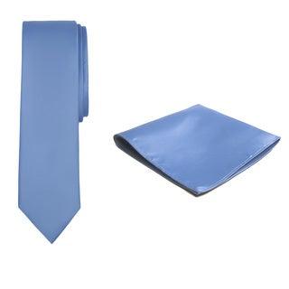 Jacob Alexander Boys' Solid Color Microfiber Tie and Hanky Set