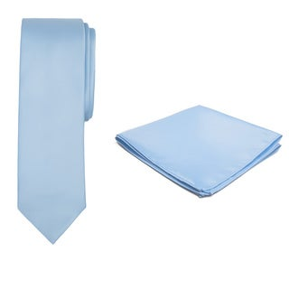 Jacob Alexander Boy's Solid Color Regular Tie and Hanky Set