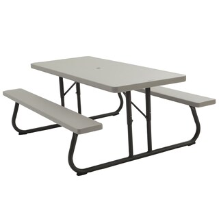 Lifetime Putty Metal and Plastic 6-foot Picnic Table