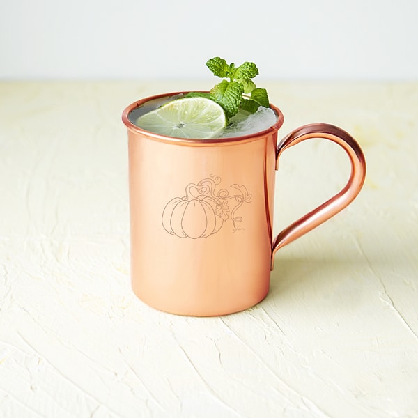 Harvest Pumpkin Copper 17-ounce Moscow Mule Mug and Polishing Cloth