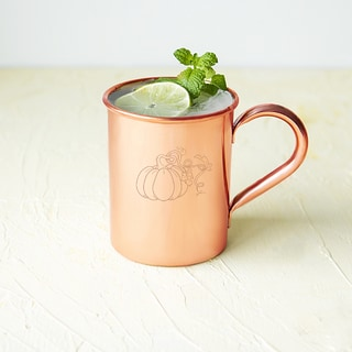 Harvest Pumpkin Copper 17-ounce Moscow Mule Mug and Polishing Cloth