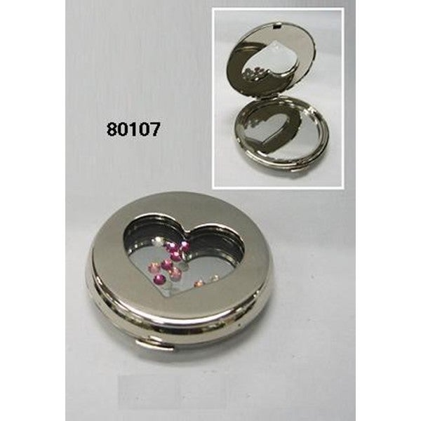 Elegance Heart Shaped Compact Miror