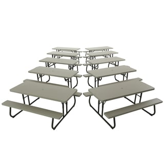 Lifetime 6-foot Putty Picnic Table (Pack of 10)
