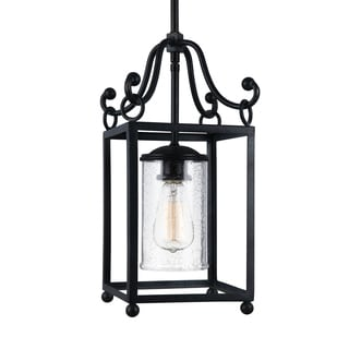 Feiss Mini 1-light Antique Forged Iron Pendant