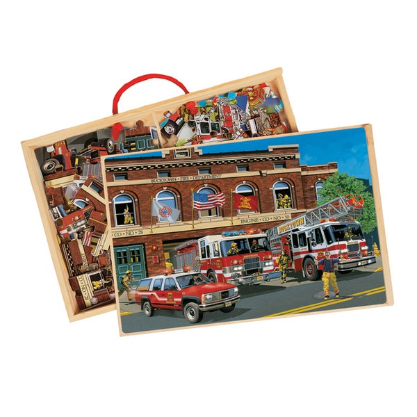 TS Shure Back in Time American Fire Trucks 2 Wooden Puzzles 18710402