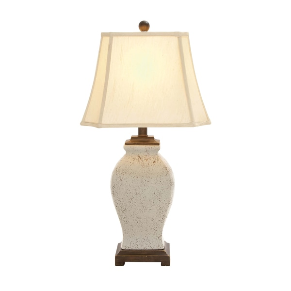 The Lovely Ceramic Off-white Table Lamp