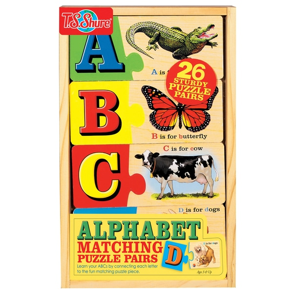 TS Shure Alphabet Matching Puzzle Pairs