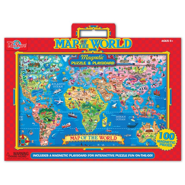 TS Shure World Map Magnetic Playboard Puzzle