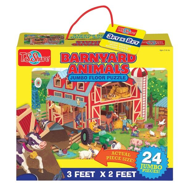 TS Shure Barnyard Animals Jumbo Floor Puzzle