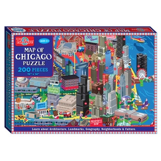 TS Shure 200 Piece Map of Chicago Jigsaw Puzzle