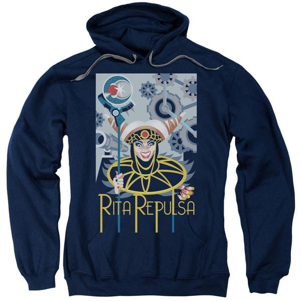 Power Rangers/Rita Deco Adult Pull-Over Hoodie in Navy