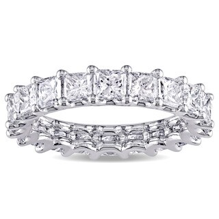 Miadora Signature Collection Platinum 3 3/5ct TDW IGI Certified Princess-cut Diamond Stackable Eternity Ring (G-H, SI2-SI2)