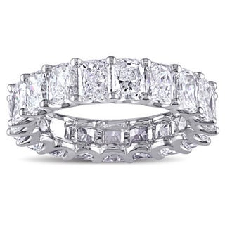 Miadora Signature Collection 18k White Gold 6ct TDW IGI Certified Radiant-cut Diamond Stackable Eternity Ring (G-H, SI1-SI2)