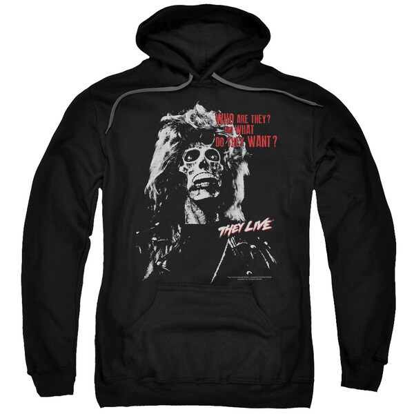 They Live/They Want Adult Pull-Over Hoodie in Black