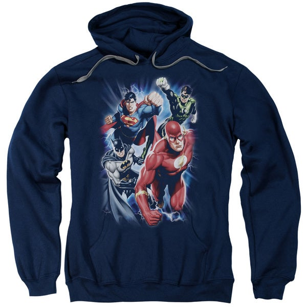 JLA/Storm Chasers Adult Pull-Over Hoodie in Navy