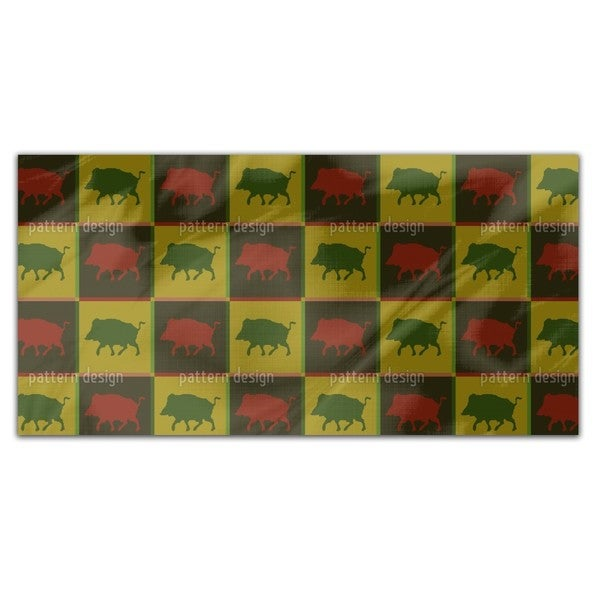 Wild Boar Territory Rectangle Tablecloth