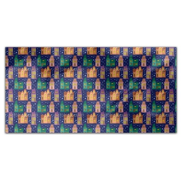 Town At Night Rectangle Tablecloth