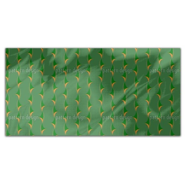 Thorny Green Rectangle Tablecloth