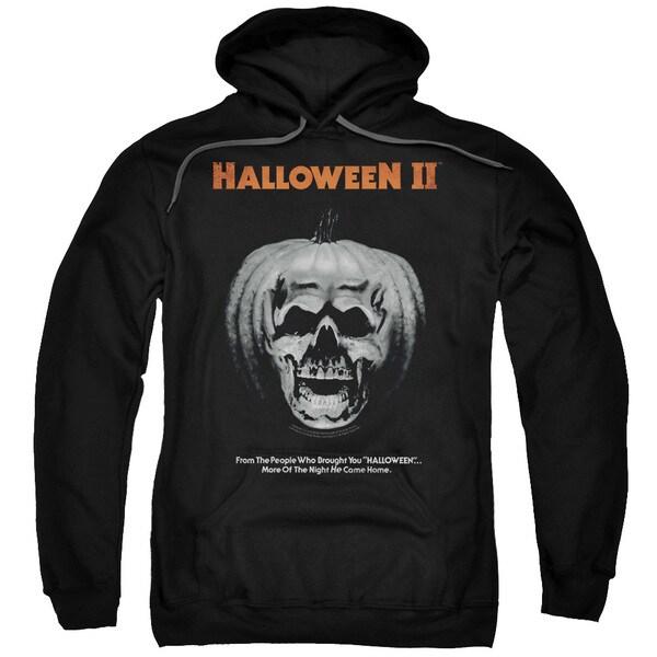 Halloween Ii/Pumpkin Poster Adult Pull-Over Hoodie in Black