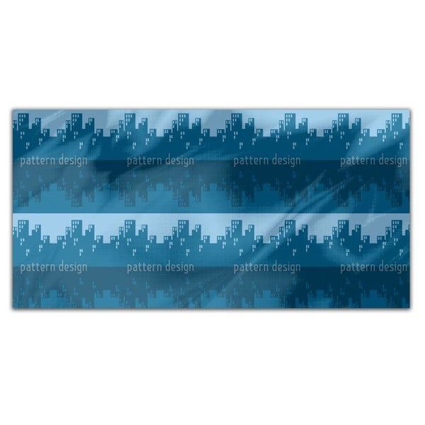 The Skyline Blues Rectangle Tablecloth