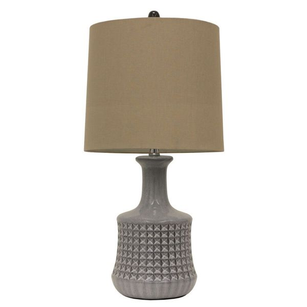 Quarry Transitional Grey Ceramic 1-light Multi-directional Table Lamp