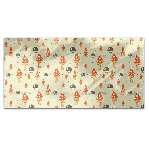 The Mushrooms In The Woods Rectangle Tablecloth