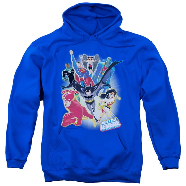 JLA/Unlimited Adult Pull-Over Hoodie in Royal Blue