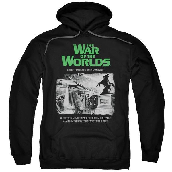 War Of The Worlds/Attack People Poster Adult Pull-Over Hoodie in Black