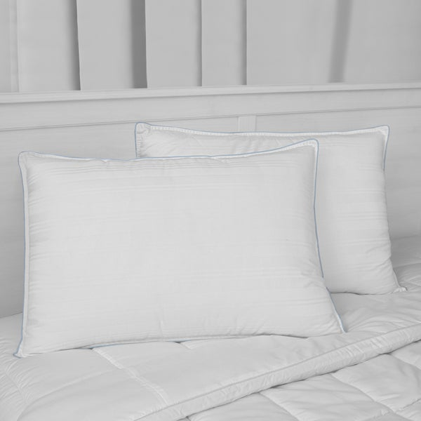 SwissLux Luxury Cotton Down Alternative Pillows (Set of 2)