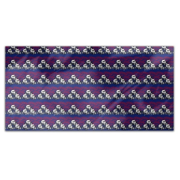 Skully Blue Rectangle Tablecloth