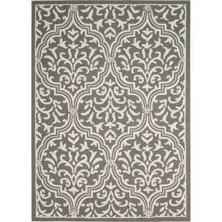 Nourison Linear Grey/Ivory Rug (7'6 x 9'6)