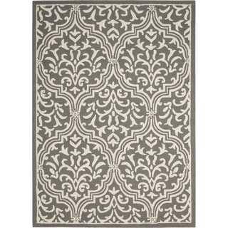 Nourison Linear Grey/Ivory Rug (8' x 11')