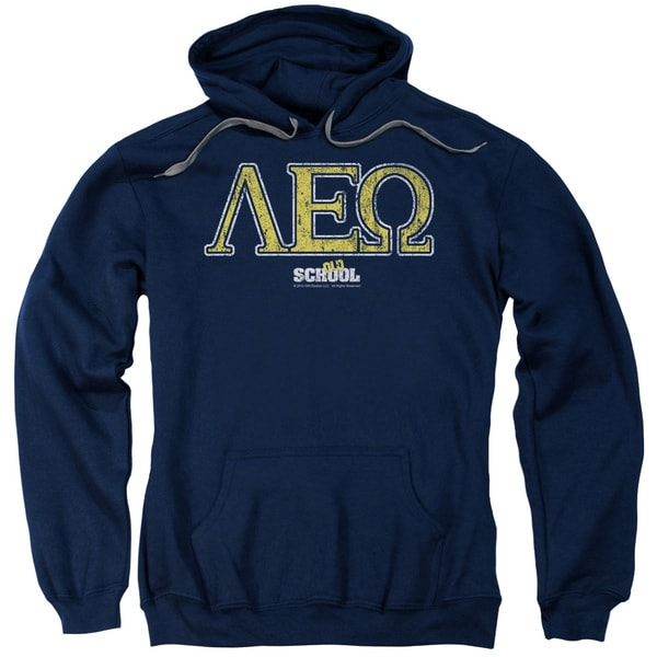 Old School/Leo Adult Pull-Over Hoodie in Navy