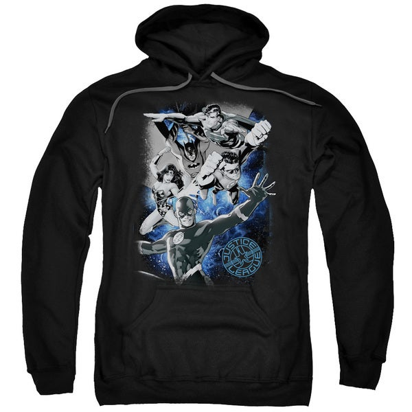 JLA/Galactic Attack Nebula Adult Pull-Over Hoodie in Black