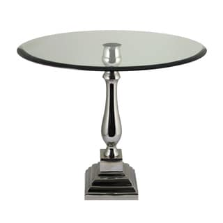 Eccentric Aluminum and Glass Table By Entrada