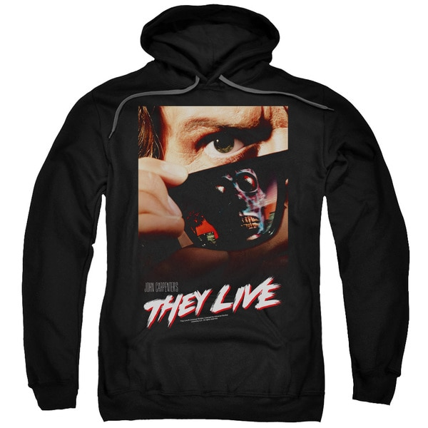 They Live/Poster Adult Pull-Over Hoodie in Black