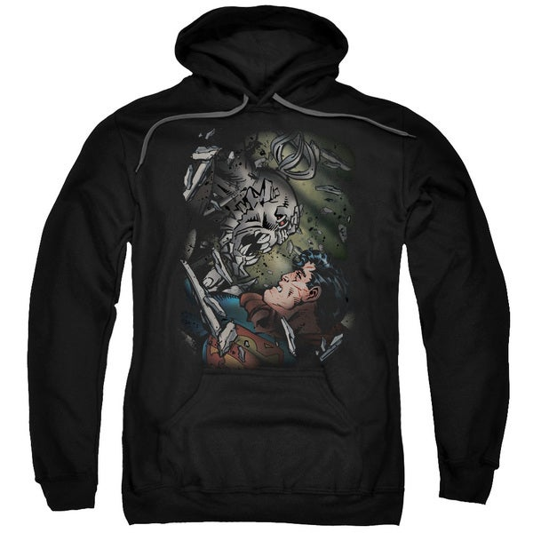 Superman/Epic Battle Adult Pull-Over Hoodie in Black