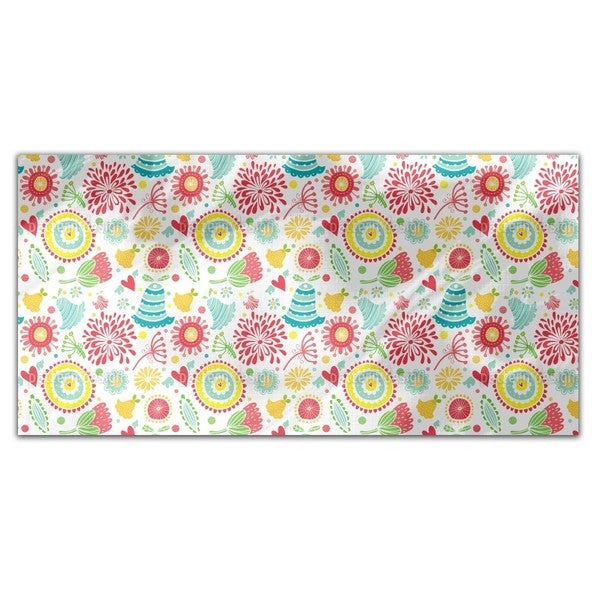 Floral Happyness Rectangle Tablecloth