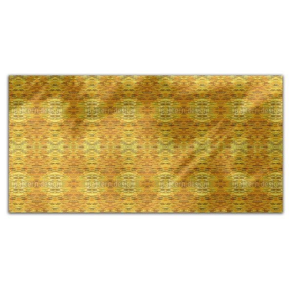 Fibrillation In The Gold Chamber Rectangle Tablecloth