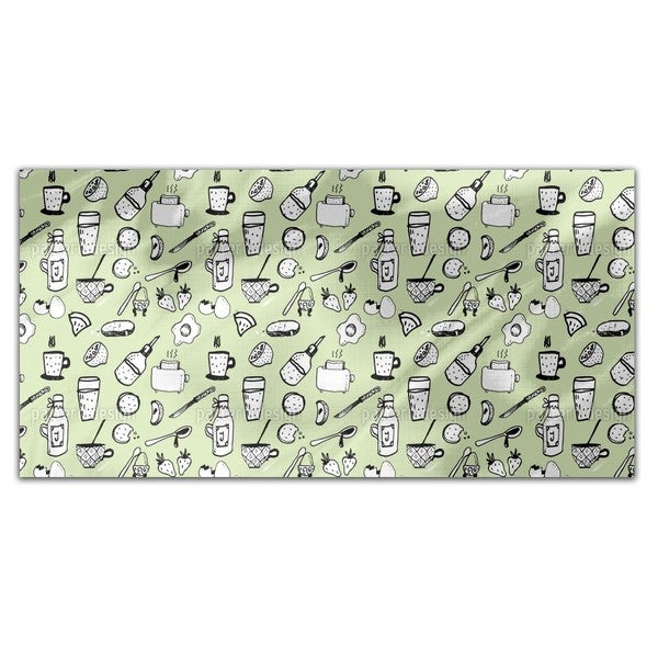 English Breakfast Rectangle Tablecloth