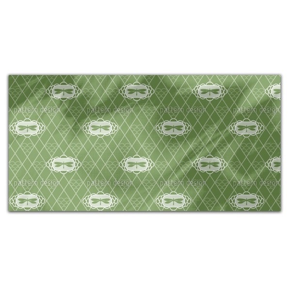 Dragonflies Verde Rectangle Tablecloth