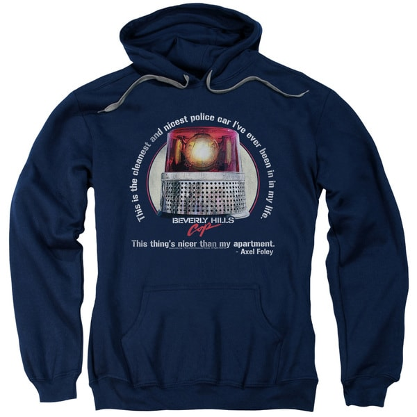 Bhc/Nicest Police Car Adult Pull-Over Hoodie in Navy