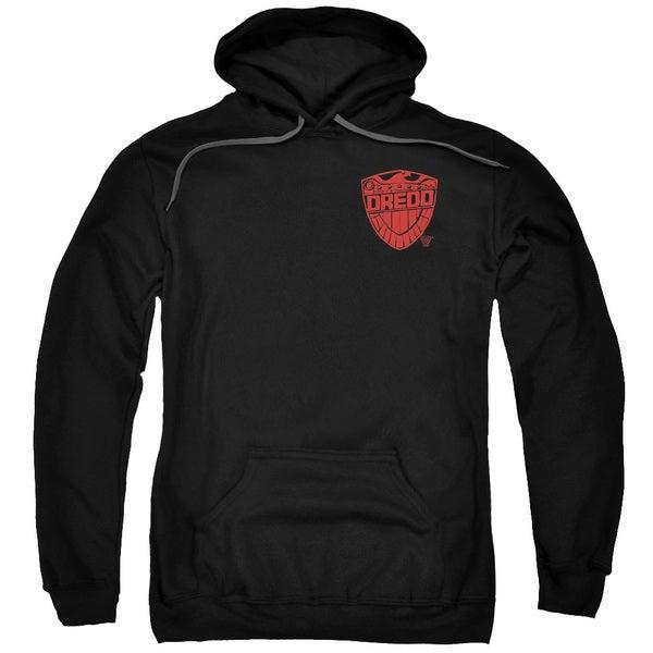 Judge Dredd/Badge Adult Pull-Over Hoodie in Black