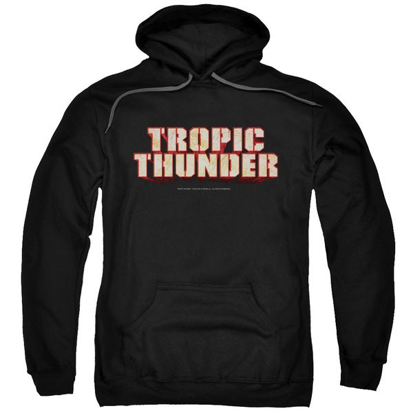 Tropic Thunder/Title Adult Pull-Over Hoodie in Black