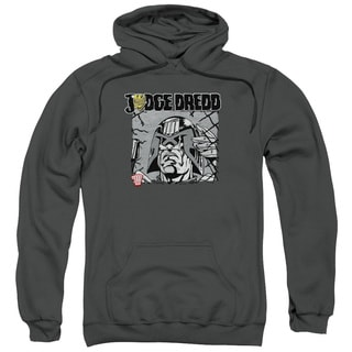 Judge Dredd/Fenced Adult Pull-Over Hoodie in Charcoal