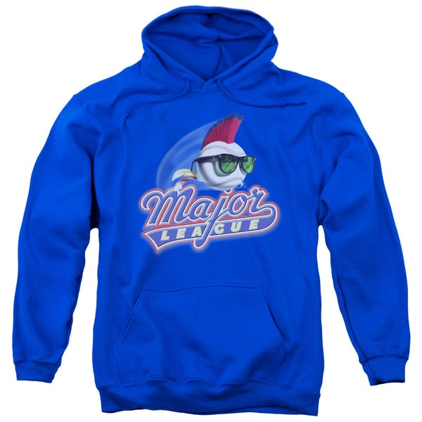 Major League/Title Adult Pull-Over Hoodie in Royal Blue