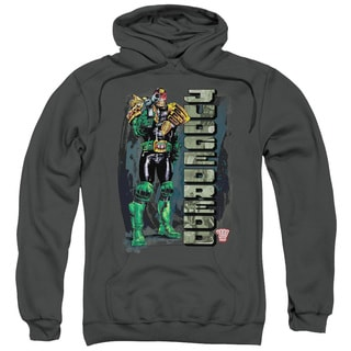 Judge Dredd/Blam Adult Pull-Over Hoodie in Charcoal